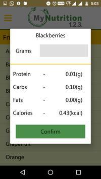 My Nutrition 123 apk screenshot