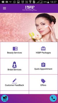 Beauty Parlor and Salon Service at home – HSBP screenshot 1