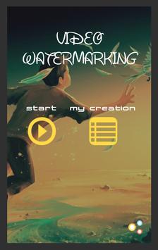 Video Watermarking poster