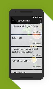 Healthy Nutrition Tips screenshot 1