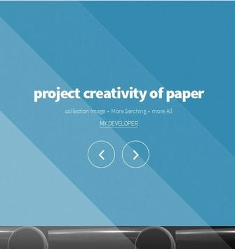 project creativity of paper poster