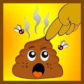 Poop smasher icon