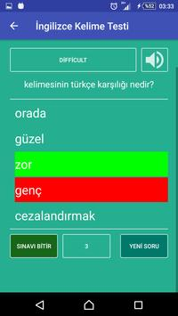 İngilizce Kelime Öğren apk screenshot