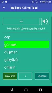 İngilizce Kelime Öğren screenshot 3