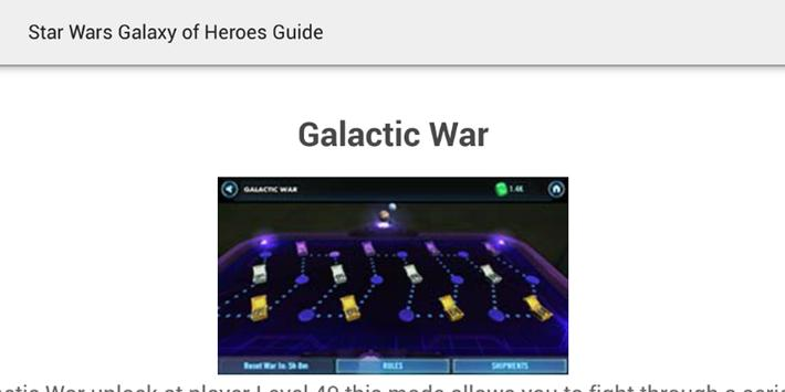 Guide Galaxy of Heroes apk screenshot