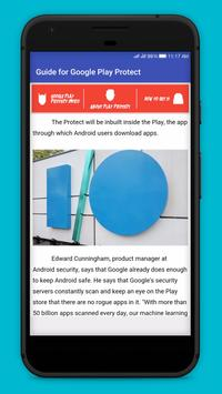 Guide for Google Play Protect poster