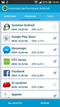 Assistant performance Android screenshot 1
