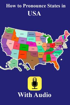 Pronounce States in USA Audio poster