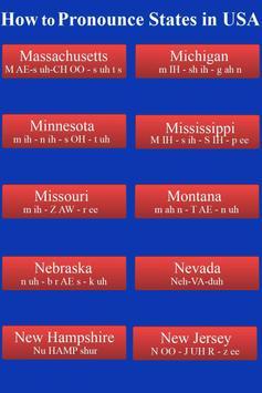 Pronounce States in USA Audio screenshot 1