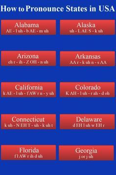 Pronounce States in USA Audio screenshot 2
