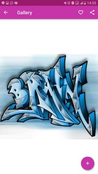 3D Graffiti Letter Design screenshot 2