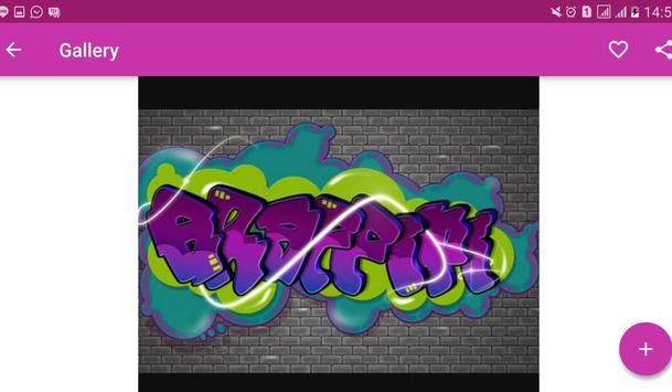 3D Graffiti Letter Design apk screenshot