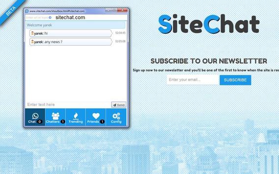 SiteChat apk screenshot