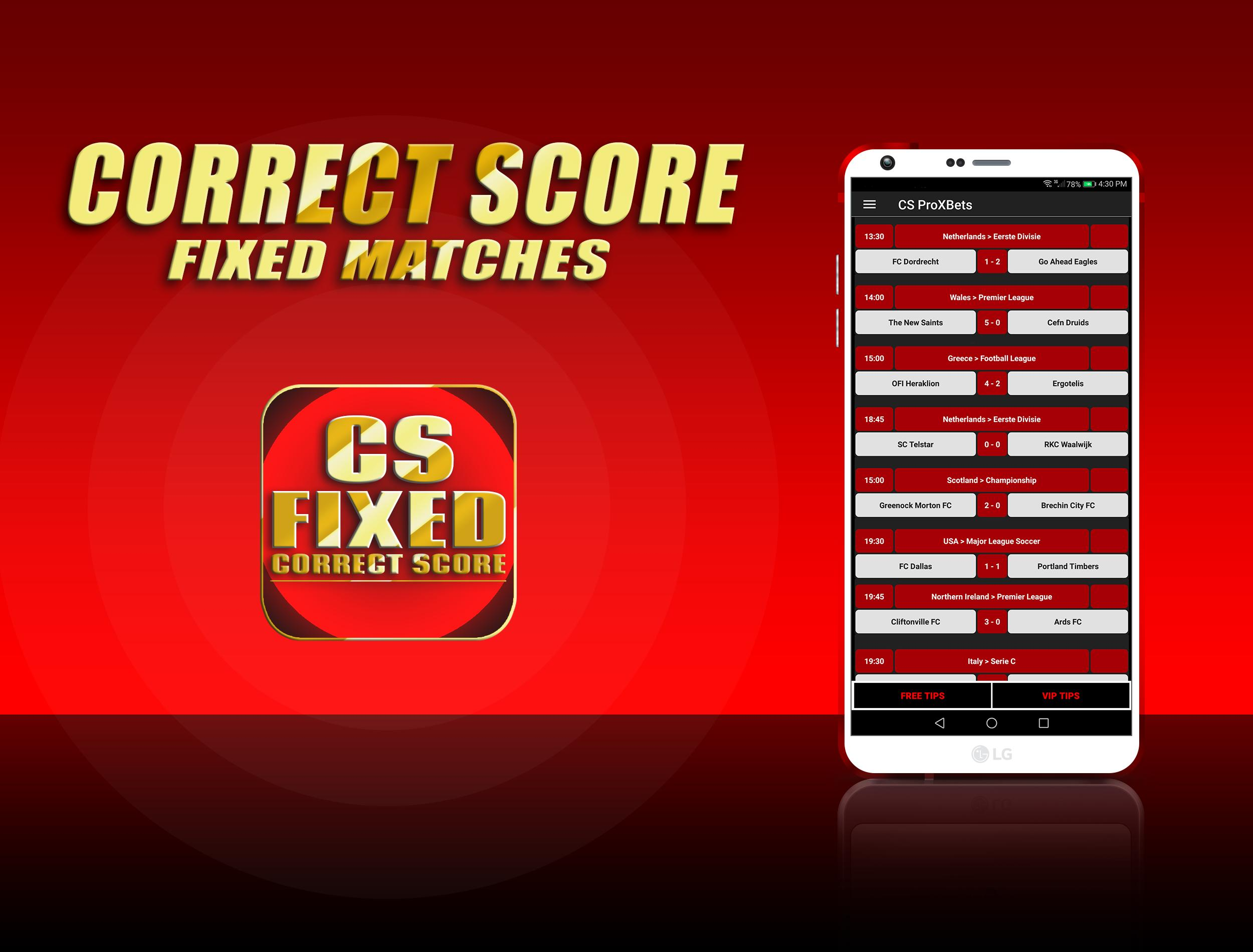 Fixed matches correct score betting tote betting shops locations