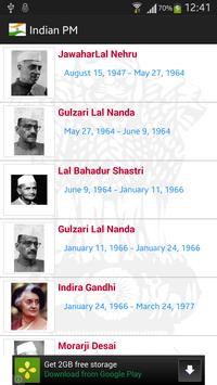 Indian Prime Ministers poster