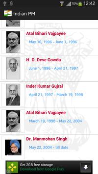 Indian Prime Ministers screenshot 1