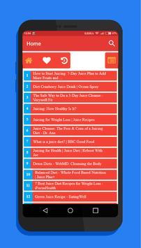 Diet Juice - Recipes & Tips screenshot 1