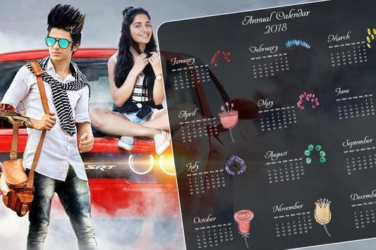 Calendar photo frames 2018 & Calendar photo Editor poster