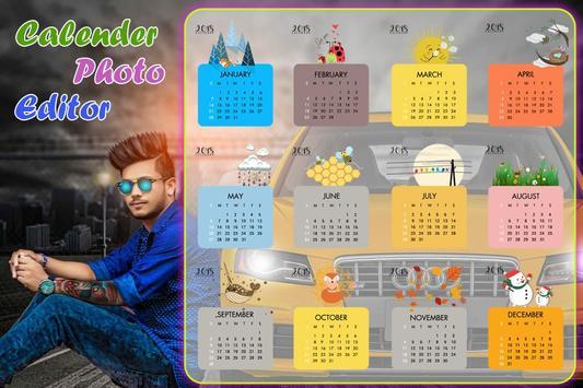 Calendar photo frames 2018 & Calendar photo Editor screenshot 3