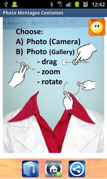 Photo montages costumes poster