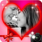 romantic true love photo frame icon