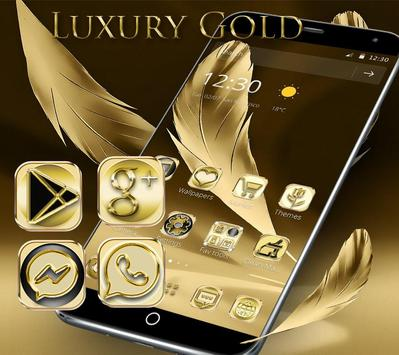Luxury Gold Theme Gold Deluxe poster
