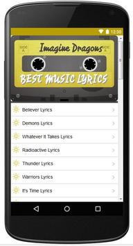 Lyrics Of Imagine Dragons Song apk screenshot