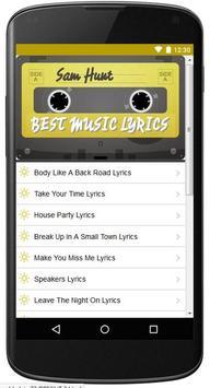 Lyrics Of Sam Hunt Song apk screenshot