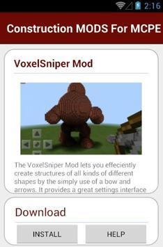 Construction MODS For MCPE apk screenshot