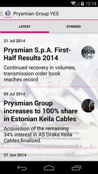 Prysmian Group YES apk screenshot