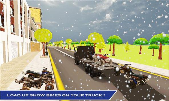Snowmobile Transport Truck 3D apk screenshot