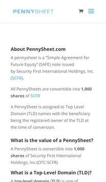 PennySheet Trader apk screenshot