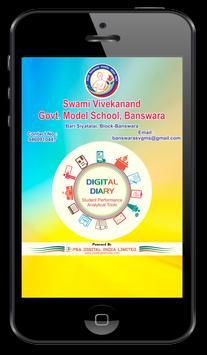 SVGMS Banswara Digital Diary poster