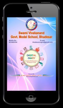 SVGMS Bhadesar Digital Diary poster