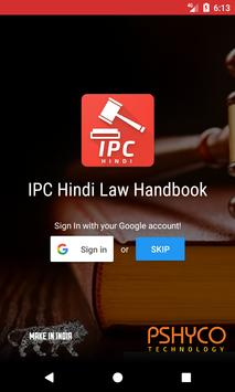 IPC Hindi - Indian Penal Code Law Handbook poster