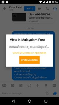 View In Malayalam Font apk screenshot