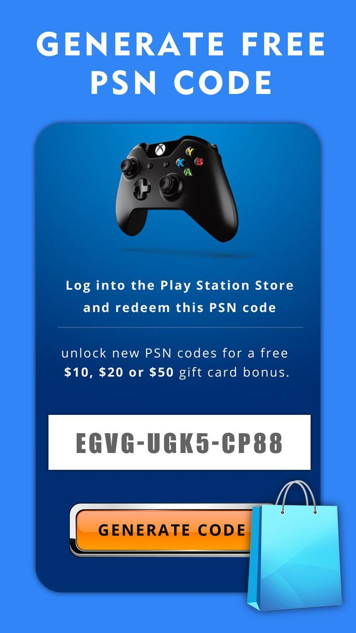 Free PSN Code Generator for Android - APK Download