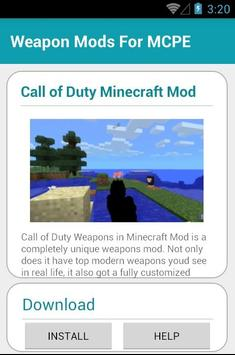 Weapon MODS For MCPE apk screenshot