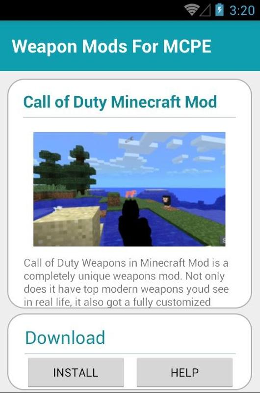 Add On Weapon Mcpe