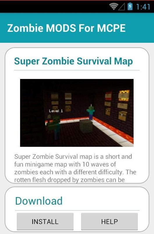 Zombie MODS For MCPE APK Download - Free Entertainment APP for ...