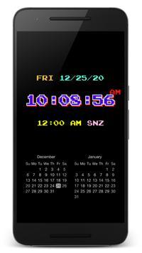 "PsPsClock ""Pixel"" - Music Alarm Clock & Calendar poster"