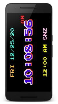 "PsPsClock ""Pixel"" - Music Alarm Clock & Calendar apk screenshot"