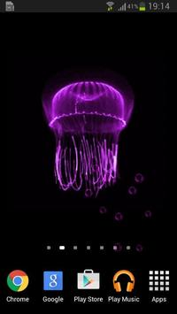 Neon Jellyfish Live Wallpaper poster