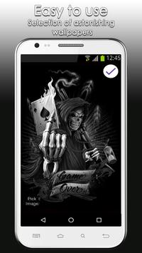 Skull Lock Screen Wallpaper apk screenshot