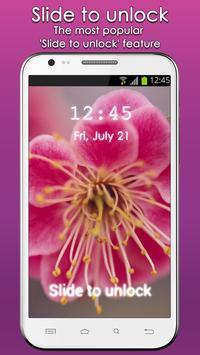 Flowers Lock Screen apk screenshot