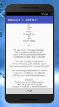 Daddy Yanke - Despacito Feat Luis Fonsi Musica apk screenshot
