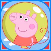 Balloons Pop Peppa Kids Games icon