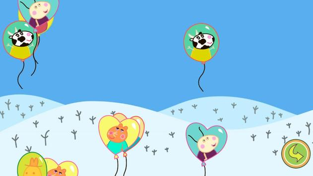 Balloons Pop Peppa Kids Games poster