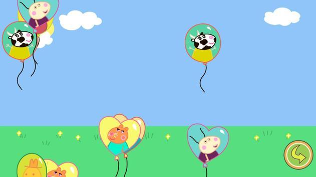 Balloons Pop Peppa Kids Games screenshot 1