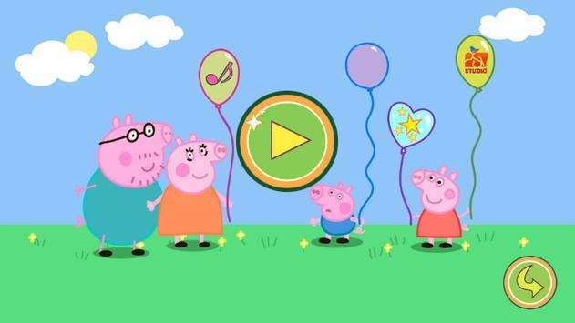Balloons Pop Peppa Kids Games screenshot 2